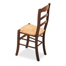 128 | Wooden chair with straw seat