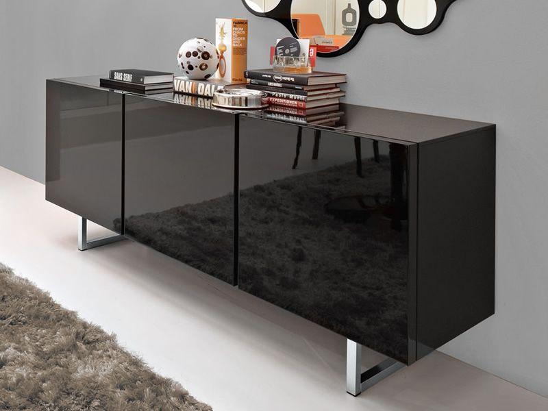 Cs6004 2 seattle mobile credenza calligaris in legno e metallo sediarreda - Tavoli sala da pranzo calligaris ...