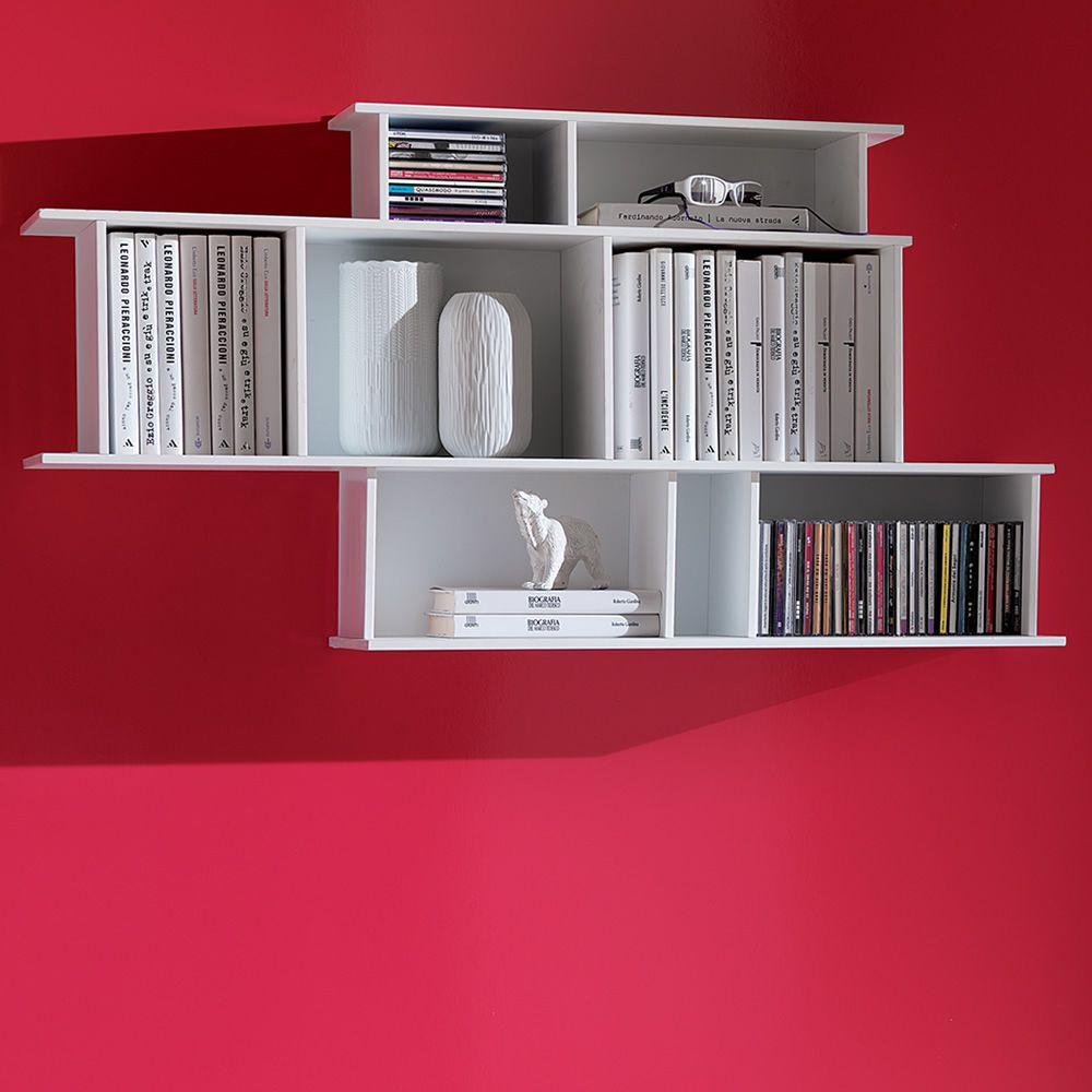 Demie libreria modulare da parete in legno diversi - Libreria parete ...
