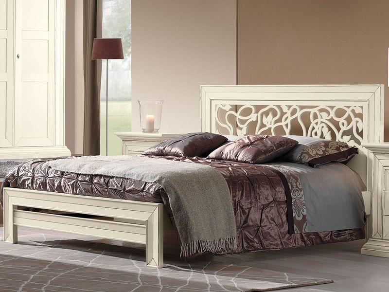 Ipno letto classico matrimoniale in legno disponibile in diverse finiture sediarreda - Letto in legno bianco ...