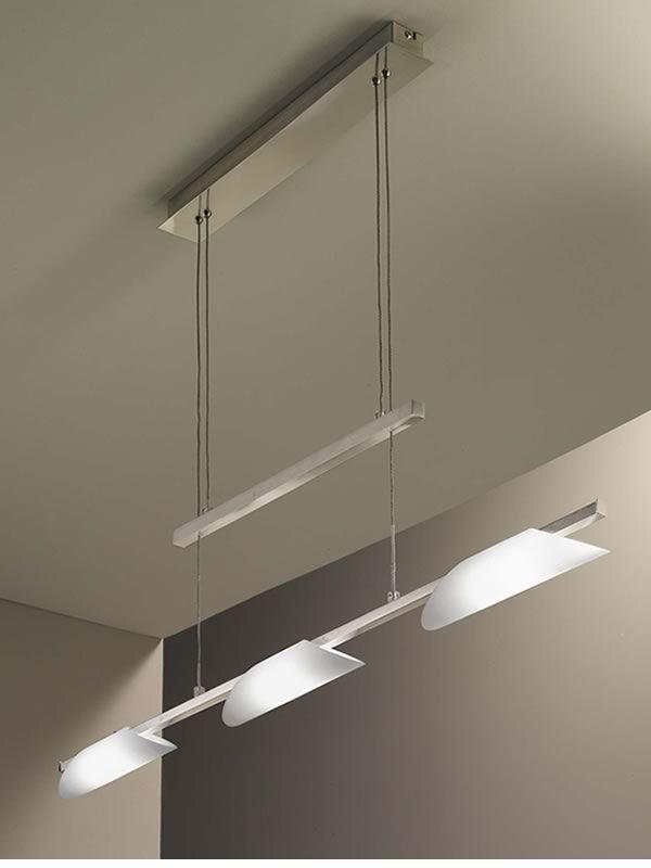 Lampada Sospensione Vetro Metallo Alien : Fa s lampada a sospensione in metallo e vetro soffiato
