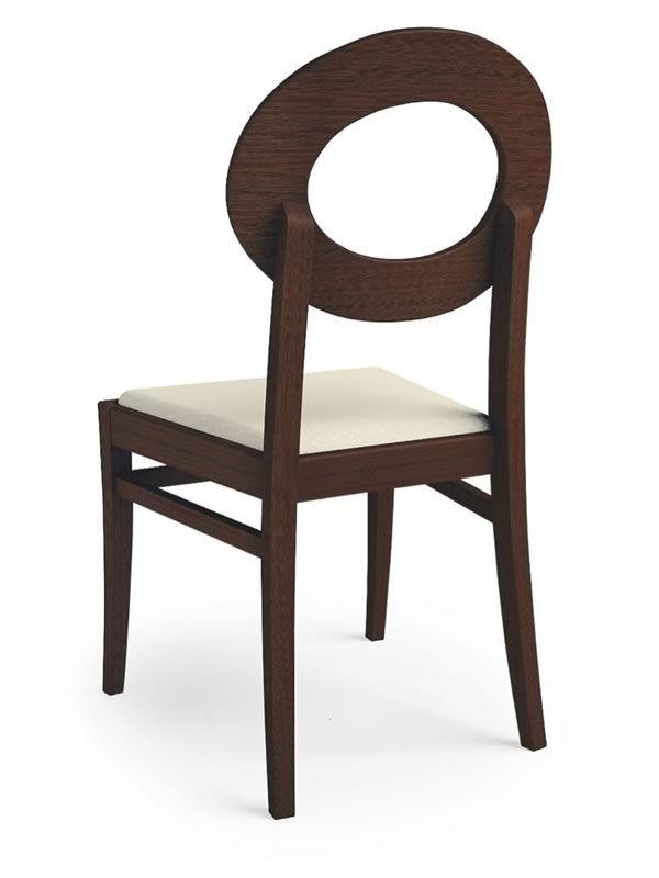 406 silla moderna de madera con asiento acolchado y for Sillas de madera tapizadas en tela