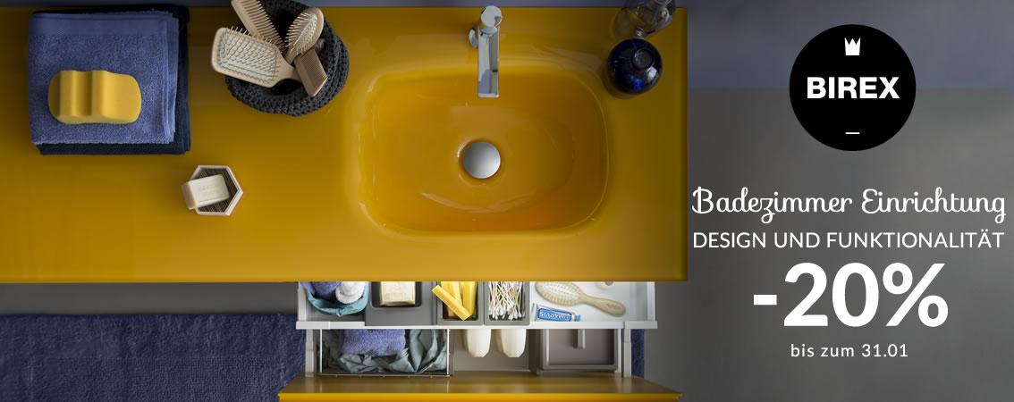 BIREX Badezimmer Einrichtung Design und Funktionalität -20% bis zum 31.01