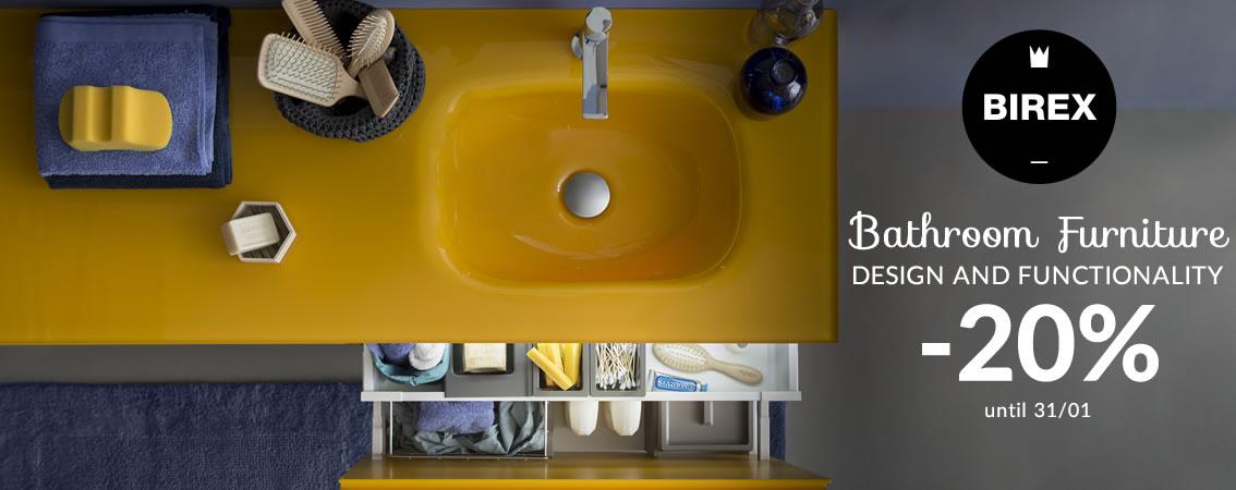 BIREX Bathroom Furniture Design and functionality -20% until 31/01