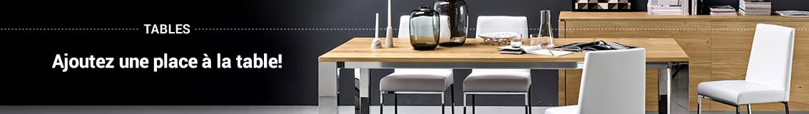 Tables: Formes et Mesures pour Chaque Style