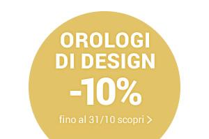 tic, tac, tic, tac... cambia l'ora! OROLOGI DI DESIGN Orologi di design -10% con il codice promo CLOCK10 valido fino al 31/10 »