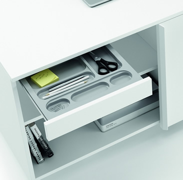 CABINETS AND STORAGE BOXES for a tidy and organized office