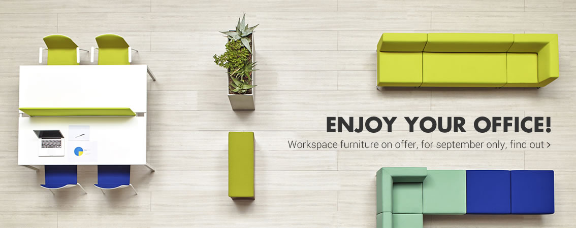 Enjoy your office! Workspace furniture on offer, for september only find out »