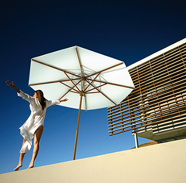 Oasis in the shadow  parasols