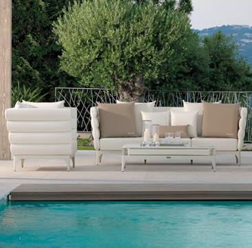Open-air living room  outdoor comfort