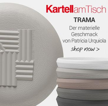 KARTELLamTisch TRAMA Der materielle Geschmack am Tisch von Patricia Urquiola