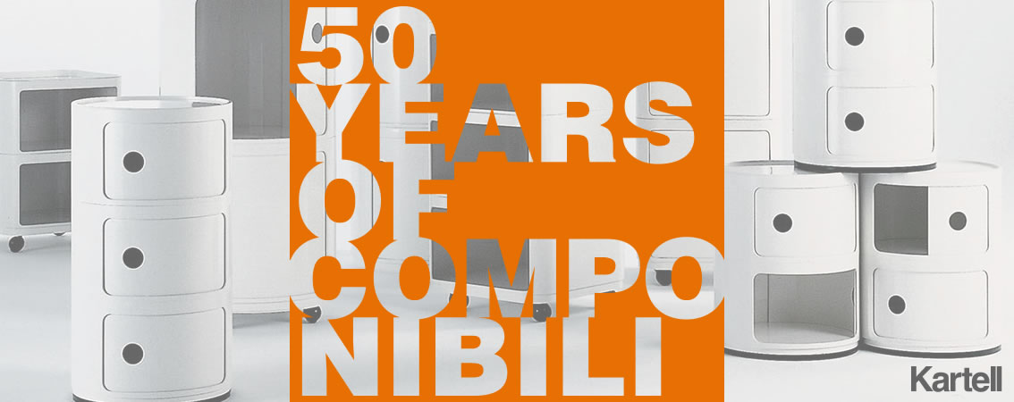Kartell 50 years of componibili