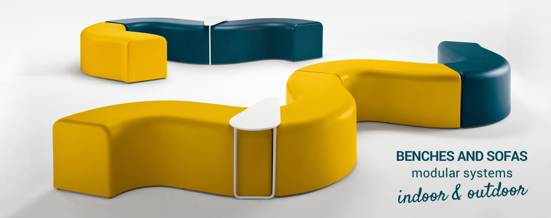 BENCHES AND SOFAS modular systems indoor & outdoor