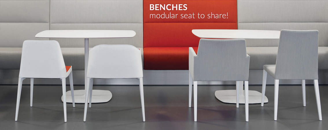 BENCHES modular seat to share!