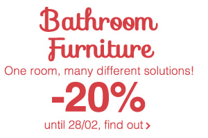 Bathroom Furniture one room, many different solutions! -20% until 28/02