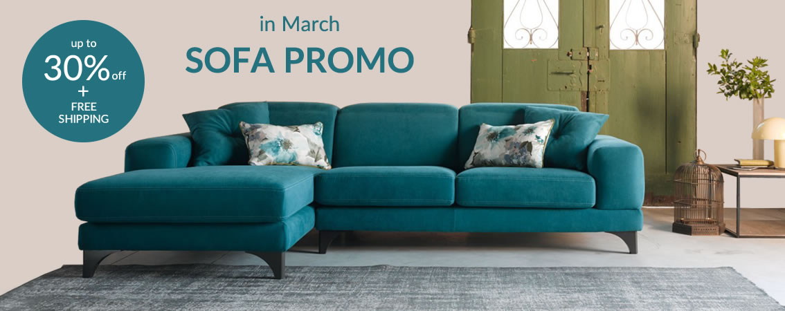 in March SOFA PROMO up to 30% off+ free shipping