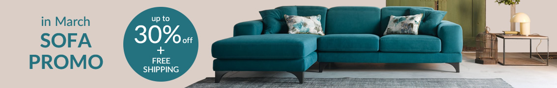 in March SOFA PROMO up to 30% off