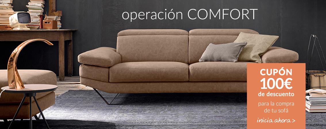 operación COMFORT CUPÓN 100€ código promo: SOFA17 Válido hasta el 31/10 para pedidos superiores a 500€