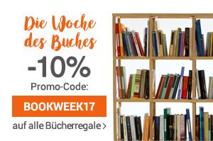 Die Woche des Buches 10% Rabatt auf alle Bücherregale und Wohnwände bis Donnerstag 27.04