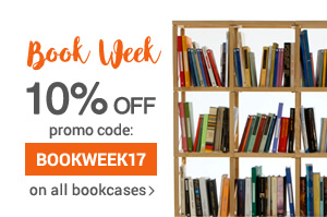 Book Week 10% off on all the bookcases and storage walls until thursday 27th April