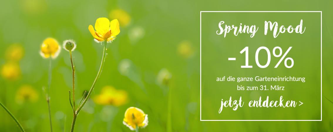 Spring Mood -10% auf den Gartenkatalog mit dem Werbungs-Code: SM2017