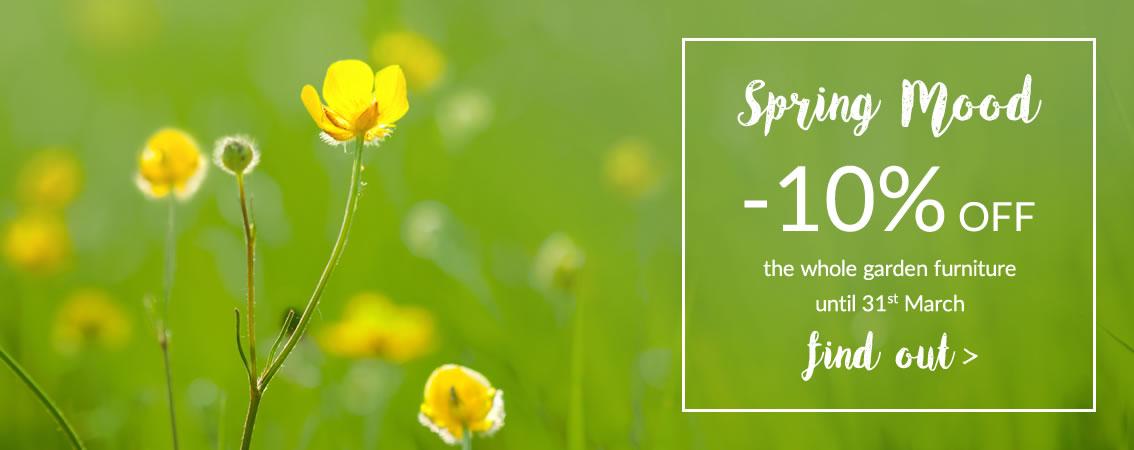 Spring Mood -10% off the garden catalogue with promo code: SM2017
