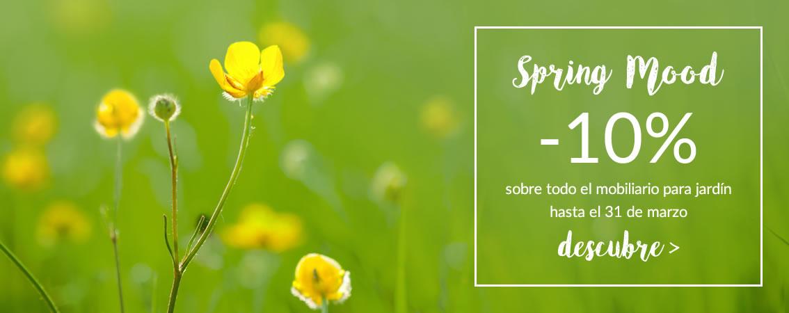 Spring Mood -10% sobre el catálogo para jardín con código promocional: SM2017