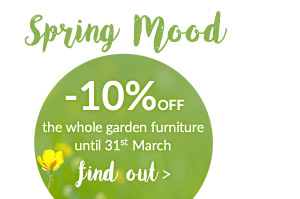 Spring Mood -10% off the garden catalogue with promo code: SM2017