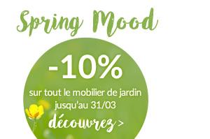 Spring Mood -10% sur le catalogue déco de jardin avec le code promo: SM2017