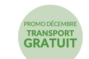 PROMO DÉCEMBRE TRANSPORT GRATUIT