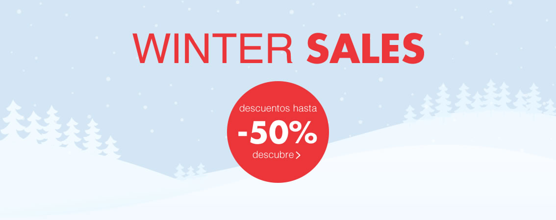 WINTER SALES hasta -50% caduca el 31/01