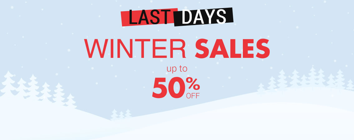 WINTER SALES up to 50% off until 31/01
