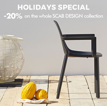 HOLIDAYS SPECIAL -20% on the whole SCAB DESIGN collection