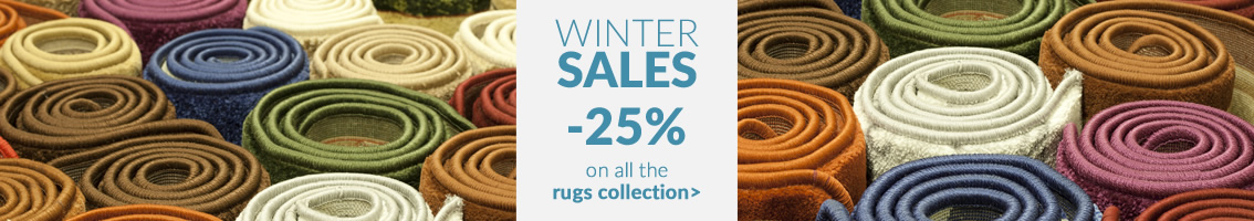 WINTER SALES -25% on all the rugs collection