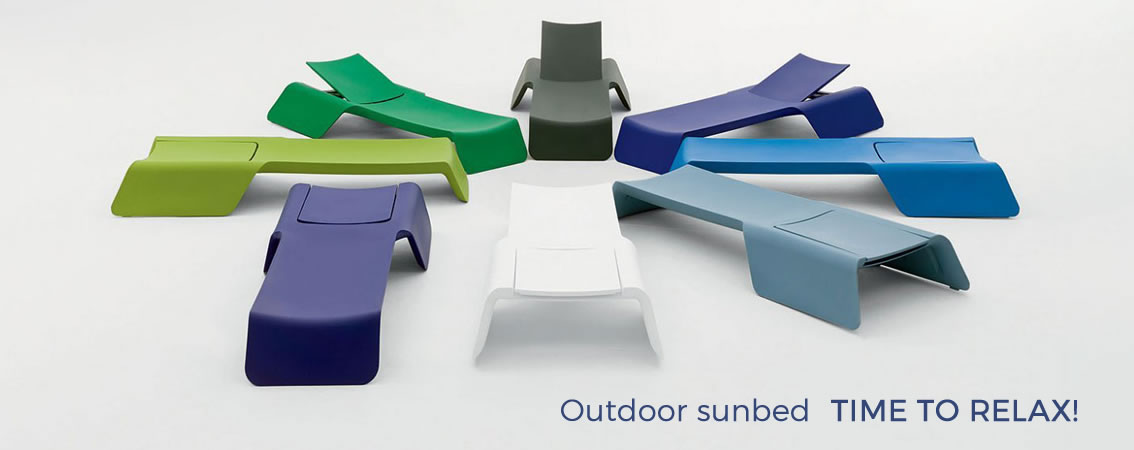 Sunbed outdoor TIME TO RELAX!