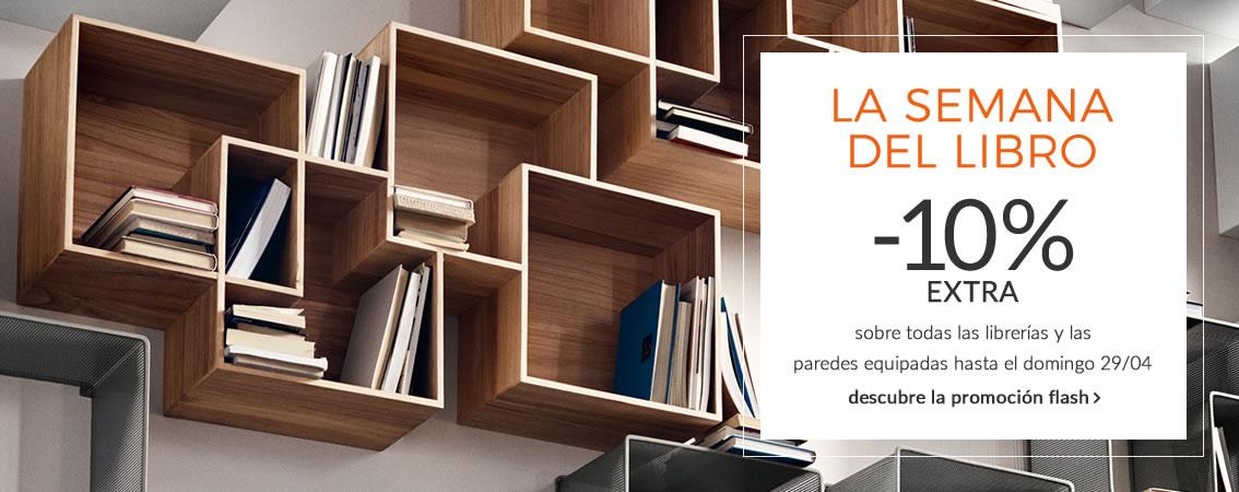 PROMO FLASH La semana del libro -10% sobre todas las librerías y las paredesequipadas hasta el domingo 29/04