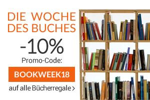 FLASH-ANGEBOT Die Woche des Buches -10% auf alle Bücherregale und Wohnwände bis Sonntag 29.04