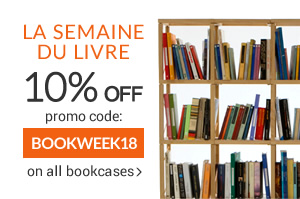 FLASH PROMO Book Week -10% OFF on all the bookcases and storage walls until Sunday 29th April