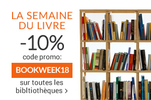 FLASH PROMO La semaine du livre -10% sur toutes les bibliothèques et les étagères murales jusqu'à 29/04