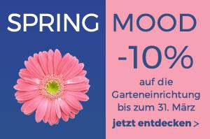 Spring Mood -10% auf den Gartenkatalog mit dem Werbungs-Code: SPRING18