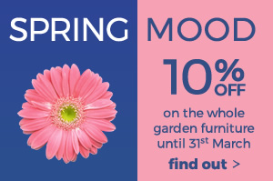 Spring Mood -10% off the garden catalogue with promo code: SPRING18