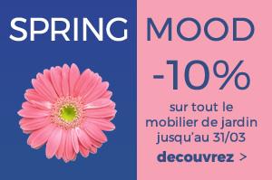 Spring Mood -10% sur le catalogue déco de jardin avec le code promo: SPRING18