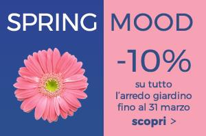 Spring Mood -10% sul catalogo giardino con codice promo: SPRING18