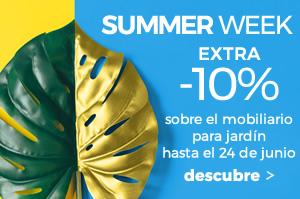 Summer week -10% sobre todo el mobiliario para jardín hasta el 24 de junio