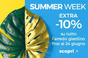 Summer week -10% su tutto l'arredo giardino fino al 24 giugno