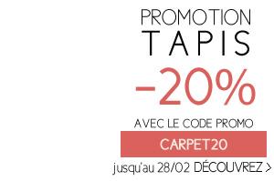 PROMOTION TAPIS -20% AVEC LE CODE PROMO CARPET20 jusqu'au 28/02