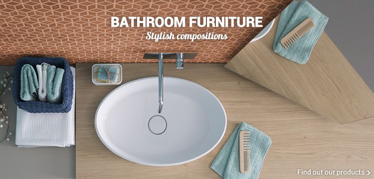 BATHROOM FURNITURE Stylish compositions - Find out our products