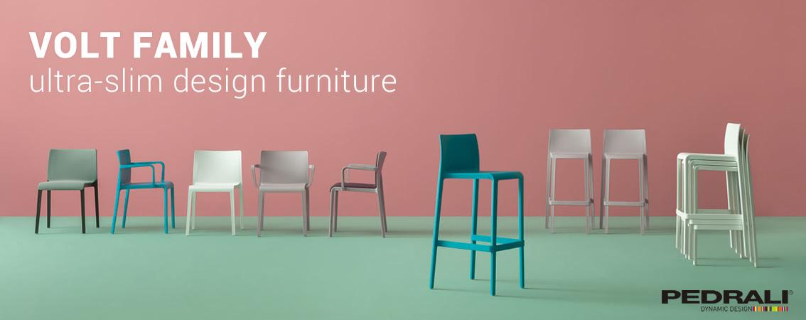 Pedrali VOLT FAMILY - ultra-slim design furniture