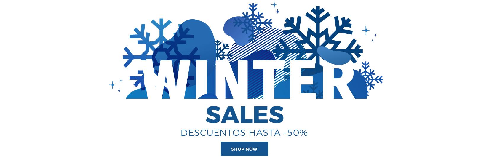 WINTER SALES DESCUENTOS HASTA -50% EXPIRA EL 31.01