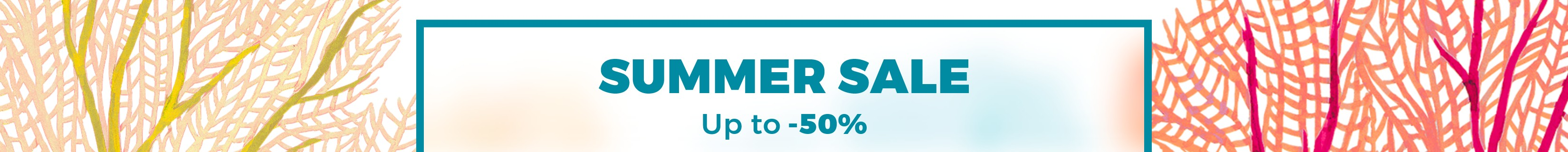 SUMMER SALES DISCOUNTS UNTIL 50% OFF EXPIRES ON 31.07